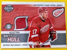 🔥BRETT HULL LIMITED JERSEY /700🔥Supreme Game Used Pacific Detroit 2004🏒#11🏒