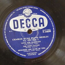 78rpm CHARLIE KUNZ PIANO MEDLEY 119