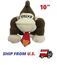 "NEW Super Mario Plush - 10"" Donkey Kong Plush Doll Toys party gift US SELLER"