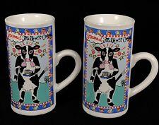 Set of 2 Karen Anagnost Barnyard Bistro Café au Lait Mug Steamed Milk Coffee