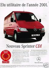 Publicité advertising 2001 Fourgon utilitaire Mercedes Sprinter CDI