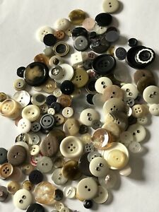 New Buttons Vintage Style Excellent Quality  Brown Ivory Pearl Black Silver 99g