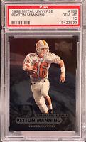 Peyton Manning 1998 Metal Universe RC #189 Colts PSA 10 Gem Mint