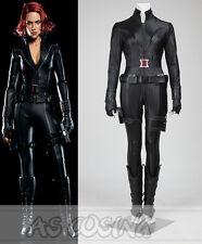 The Avengers Cosplay Black Widow Natasha Romanoff Cosplay Costume Full Set New