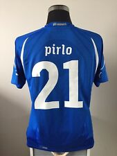 PIRLO #21 Italy Home Football Shirt Jersey 2010-2012 (L)