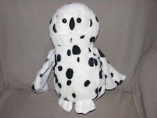 STUFFED PLUSH OWL BIRD BLACK WHITE SPOT POLKA DOT CIRCLE DALMATIAN DALMATION 13""