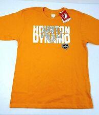Youth Houston Dynamo T-Shirt Boys Size Large 14/16 Orange MLS Short Sleeve New