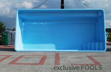 GFK POOL Schwimmbecken 7,50x3,70x1,55 HERSTELLER Carbon  Swimming Pool TÜV Zert.