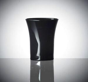100 x Black Polystyrene Shot Glasses CE 25ml   Plastic Shots [505520217768]