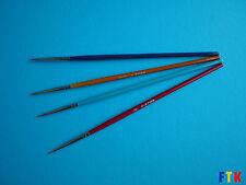 Paint Brushes - 4 Pcs Set (Size: #00000, 0000, 000, 00 , Nylon)