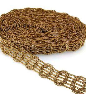 Job lot Gold  trim curtains cushions throws valances Craft Upholstery 50 cm