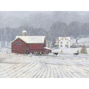 Bonnie Mohr The Home Place Cow Farm Barn Art Print 16 x 12