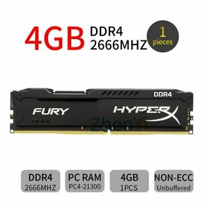 4GB 2666MHz DDR4 PC4-21300 288Pin DIMM Desktop Memory SDRAM Kingston HyperX Fury