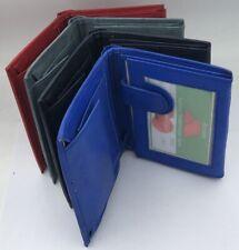 Echtleder Portemonnaie Ledergeldbeutel Ledergeldbörse rot grau schwarzblau blau