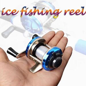 Ice Fishing Reel Mini Right/Left Fishing Wheel Lightweight Drum Reel With line