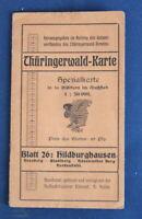 Thüringerwald- Karte Spezialkarte Blatt 26 Hildburghausen um 1910 Ortskunde js