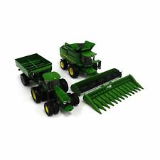 JOHN DEERE 1/64th SCALE HARVESTING SET TRACTOR COMBINE GRAIN CART (TBE45443)