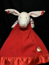 "Olivia The Pig Baby Security Blanket Plush Lovey Komet 23"" Red"