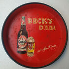 BECKS BEER 1970s VERY RARE VINTAGE TIN ADVERTISEMENT TRAY COLLECTORS ITEM#