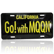 MOONEYES Kennzeichen Go with Moon schwarz license plate vintage style beach surf