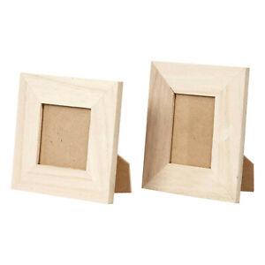 kleine Bilderrahmen aus Holz mit Glasabdeckung 10x10cm und 9x11cm