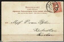 Briefkaart met grootrondstempel Ter Aar