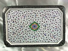 ANCIEN ISLAMIC PLAT PLATEAU CUIVRE EMAILLE EMAUX SYRIEN OTTOMAN PERSAN ENAMEL