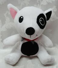 "Universal Studios Bullseye Spike Black White 11"" Dog Plush Spot Eye Spud Collar"