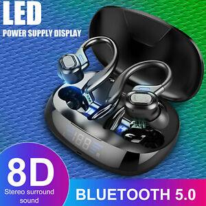 Auriculares Bluetooth 5.0 TWS inalámbricos estéreo Gancho para la oreja