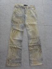 VGC $380 JUST CAVALLI Italy Wild Animal Print Jeans 30 44 10-12