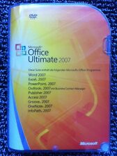 Microsoft Office Ultimate 2007,  Deutsch, Retail Vollversion mit MwSt Rechnung