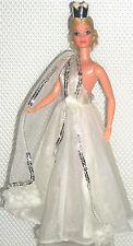 Quick Curl Miss America Doll Superstar Barbie Spotlight On Romantic White #9836