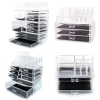 Clear Acrylic Cosmetic Organizer Drawer Makeup Case Jewelry Storage Holder Boxes
