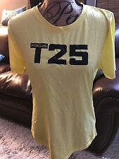 T25 Yellow Shaun T Beachbody Coach Size XL NEW Logo Print Workout Top 🆕⭐️🎀
