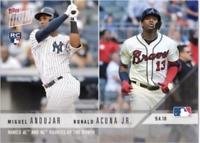 2018 Topps Now #687 Miguel Andujar Ronald Acuna Jr. RC Rookie Yankees Braves
