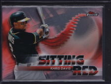 2018 TOPPS FINEST SITTING RED INSERT KHRIS DAVIS #SR-KD A'S ATHLETICS