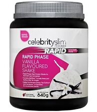 =>2 x Celebrity Slim Rapid Weight Loss 840g shakes Vanilla Flavoured
