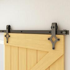 4/5/6/6.6/7/8Ft Sliding Barn Door Hardware Kit Track Hang Style Modern Door Set