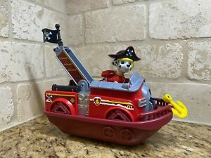 spin master Paw Patrol Pup Action Vehicle Figure Marshall Pirate Ships Exclusive