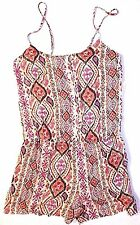 New Forever 21 M medium abstract spaghetti strap jumpsuit shorts romper outfit