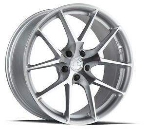 (1) 19x8.5 Aodhan AFF7 5x120 +35 Flow Forged Machined Silver Wheel