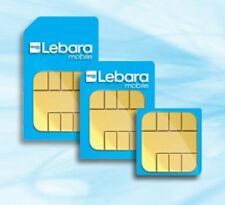 LEBARA MOBILE  CHEAP INTERNATIONAL CALL- 1p  PAY AS YOU GO MICRO - TRIO SIM CARD