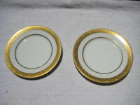 "Lot of 2 bread and butter plates 6 1/4"" hutschenreuther selb LHS bavaria gold"