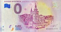 BILLET 0  EURO  BANSKA BYSTRICA  SLOVAQUIE  2018  NUMERO DIVERS