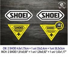 Shoei Emergency Concept ECO38 MOTO GP Visor Vinilo Sticker Vinyl Decal Casco