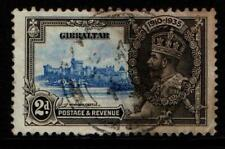 Gibraltar Stamps 2d 25th Anniversary Of King George V Regency Used