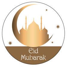 105 x EID MUBARAK NON Personalised Stickers RAMADAN CELEBRATION Muslim Islam 966