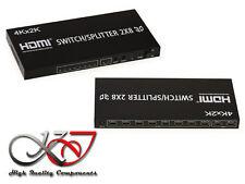 Switch Splitter HDMI - 2 entrées vers 8 sorties - Résolution 4K 2160x3840