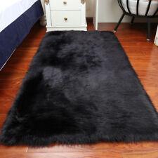 Modern Faux Rectangle Leather Fur Sheepskin Rugs Ebay