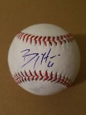 BILLY HAMILTON REDS SIGNED GAME USED OFFICIAL MAJOR LEAGUE BASEBALL exact proof